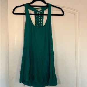 Green tank with back detail
